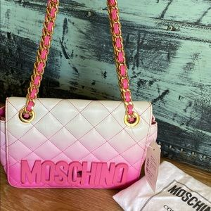 Authentic Moschino Ombré Flap Crossbody Bag
